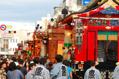 berömd matsuri mest traditionella shizuoka Arkivbilder