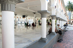 Berömd moské i Kuala Lumpur, Malaysia - Masjid Jamek Arkivbild