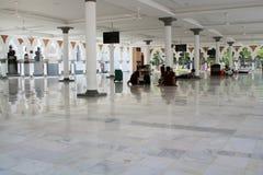 Berömd moské i Kuala Lumpur, Malaysia - Masjid Jamek Arkivbilder