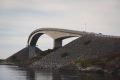 Berömd norrmanAtlantic Ocean väg, Norge arkivbild
