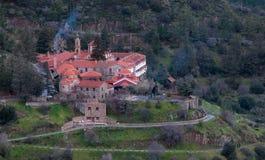 Berömd ortodox kloster av Machairas i Cypern Fotografering för Bildbyråer