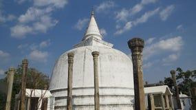 Berömd pagod, stupa i Sri Lanka royaltyfri bild