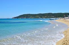Berömd Pampelone strand Arkivbilder