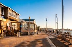 Berömd pir 39 på Fisherman&en x27; s-hamnplats i San Francisco Arkivfoton