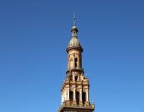 Berömd Plaza de Espana - spanjoren kvadrerar i Seville, Andalusia, Spanien gammal landmark royaltyfria foton