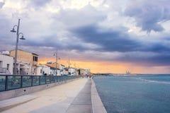 Berömd promenad i Larnaca, Cypern Arkivbilder