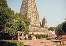 Berömd 3rd för århundrade buddistMahabodhi F. KR. tempel - Great Awakening - i Bodhgaya, Indien Royaltyfri Bild