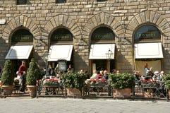 Berömd restaurang i Florence, Italien arkivbilder