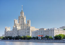 berömd s-skyskrapa stalin Arkivfoto