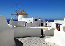 Berömd Santorini ö i Grekland Arkivbilder