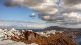 Berömd Santorini ö, lopp Grekland Fotografering för Bildbyråer