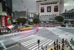 Berömd scramblekorsning i tokyo fotografering för bildbyråer