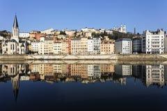 Berömd sikt av Lyon Arkivfoton