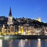 Berömd sikt av Lyon Royaltyfri Fotografi