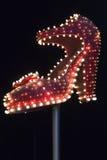 Berömd silverhäftklammermatare på den Fremont gatan Royaltyfria Foton