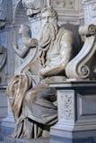 Berömd skulptur av Moses av Michelangelo royaltyfri fotografi