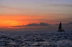 Berömd solnedgång på Key West, FL Arkivfoto