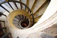 Berömd spiral trappa Arkivfoto