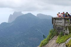 Berömd staty av Chrisen i Rio de Janeiro Arkivbild