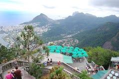 Berömd staty av Chrisen i Rio de Janeiro Arkivbilder