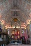 Berömd tempel i Thailand Wat Niwet Thammaprawat royaltyfria foton