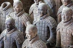 Berömd terrakottaarmé för värld som lokaliseras i Xian China Arkivfoton