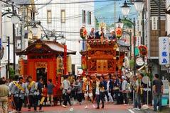 berömd traditionellast festivalmatsuri Royaltyfri Bild