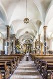 Berömd Trunesco abbotskloster i Traunkirchen Royaltyfria Foton