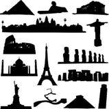 berömd värld för arkitekt Arkivfoto