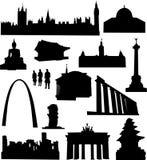 berömd värld för arkitektur Royaltyfri Fotografi