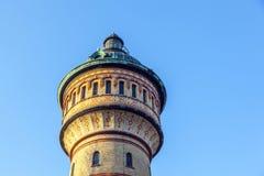 Berömd watertower i Biebrich, Wiesbaden Arkivfoton