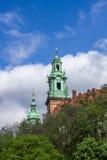 Berömd Wawel slott krakow poland Medeltida historieminnesmärke Royaltyfria Foton