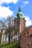 Berömd Wawel slott krakow poland Medeltida historieminnesmärke Arkivbild