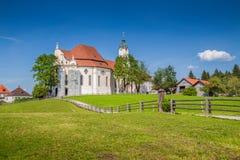 Berömd Wieskirche pilgrimsfärdkyrka, Bayern, Tyskland royaltyfria foton