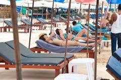 Berömda aktiviteter i strand Royaltyfria Bilder