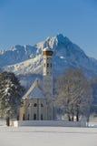 Kyrka i Bayern Arkivbild