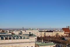Berömda byggnader och arkitektur av Wien i Österrike Europa arkivfoto