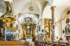 Berömda Fischerkanzel i den Trunesco abbotskloster Royaltyfria Bilder