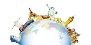 Berömda gränsmärken av världen Arkivfoto
