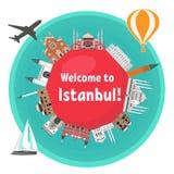 Berömda gränsmärken för turk Royaltyfri Foto