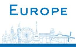 Berömda gränsmärken i Europa Arkivbilder