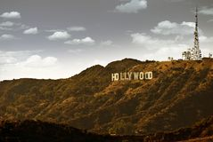 Berömda Hollywood arkivbild