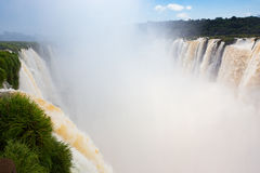 Berömda Iguacu nedgångar Royaltyfria Foton