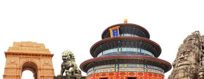 Berömda monument av Asien arkivbild