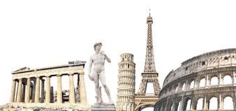 Berömda monument av Europa arkivfoto