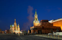 berömda moscow mest röd fyrkant arkivfoton