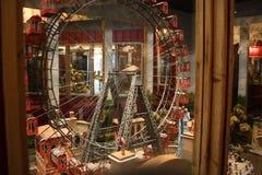 Berömda och historiska Ferris Wheel Museet i Prater parkerar, Wien Arkivbild
