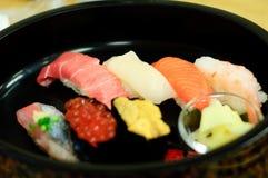 berömda otaru sushi Arkivbild