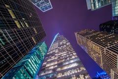Berömda skyskrapor av New York Fotografering för Bildbyråer