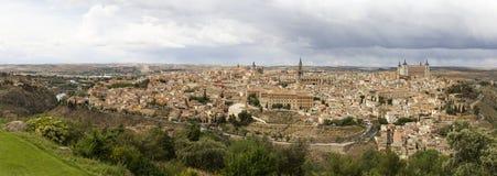 Berömda städer av Toledo i Spanien. Royaltyfria Foton